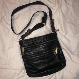 Black Leather Fossil Crossbody